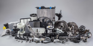 Auto parts demonstrating components replaced during auto repair